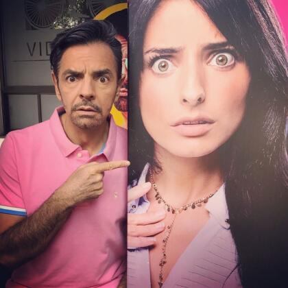 Incluso, el mismo Eugenio Derbez reaccionó con humor ante el gran parecido de su hija con la chica venezolana.