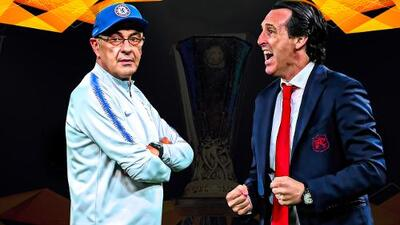 Emery vs. Sarri, un duelo disparejo en los banquillos de la Final de la Europa League