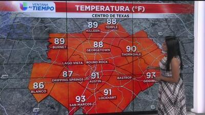 Martes agradable y caluroso para Austin