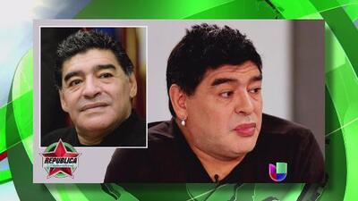 La evolución de Diego Armando Maradona