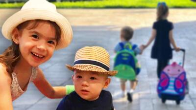 Las fotos de los hermanitos Tacher rumbo a la escuela: Liam en su primer día de la mano de Michelle