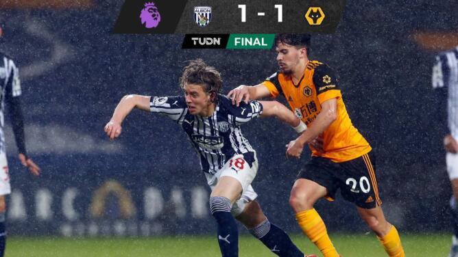 Sin Jiménez, los Wolves no pasaron del empate ante el débil West Bromwich