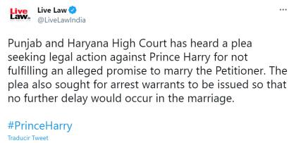 De acuerdo con un reporte del portal Live Law India, que se dedica a difundir noticias e información de corte legal en esa nación, la abogada fue embaucada por un estafador que se hizo pasar por el príncipe.  <br>