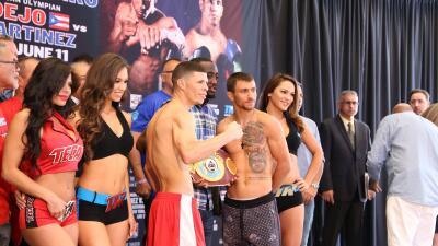 'Rocky' Martínez y Vasyl Lomachenko en peso; Verdejo y Martínez también