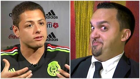 """Elvis """"entrevistó"""" a 'Chicharito' Hernández y le preguntó sobre sus exnovias"""