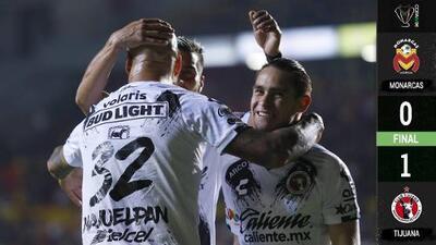 Nahuelpán mordió a Morelia y Xolos avanzó en la Copa MX