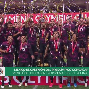 ¡Los mejores! El Tri alza la Copa de campeón del Preolímpico