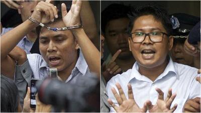 Corte de Birmania sentencia a siete años de prisión a dos periodistas por investigar una matanza de rohingyas