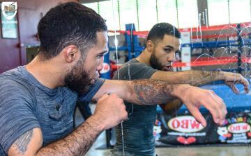 En fotos: Luis 'Pantera' Nery se entrena en la Isla del Encanto de cara a su próxima pelea