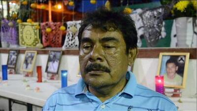 """""""No tengo miedo"""", dice el padre de Ayotzinapa que enfrentó a Peña Nieto"""