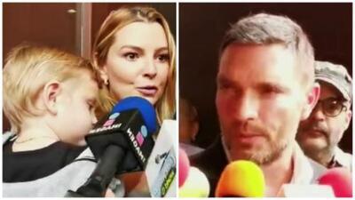 Marjorie de Sousa y Matías se reencuentran con Julián Gil en la corte (a un año de no verse entre padre e hijo)
