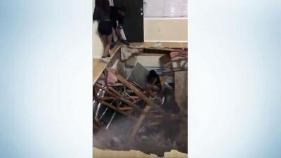 Floor collapses under massive college party