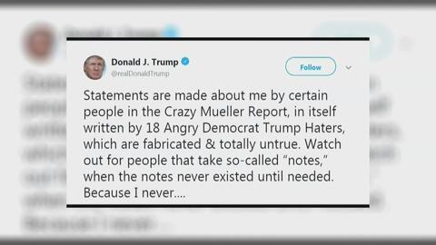 Después de celebrar, el reporte de Muller, ahora el Presidente Trump lo critica