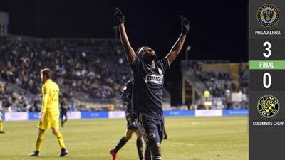 Sin Marco Fabián, Philadelphia Union golea al Crew y gana primer partido de la temporada