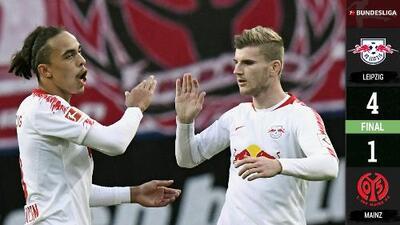 Leipzig 4-1 Mainz - GOLES Y RESUMEN - Jornada 15 - Bundesliga