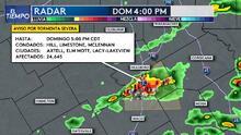Emiten Vigilancia por Tormentas Severas hasta las 10 PM para varios condados en el norte de Texas