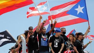 Ricky Martin, Olga Tañón y otros artistas puertorriqueños se unen a miles de sus compatriotas en el paro contra Rosselló