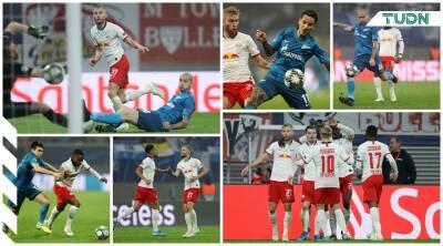 Con un golazo, el Leipzig remonta al Zenit