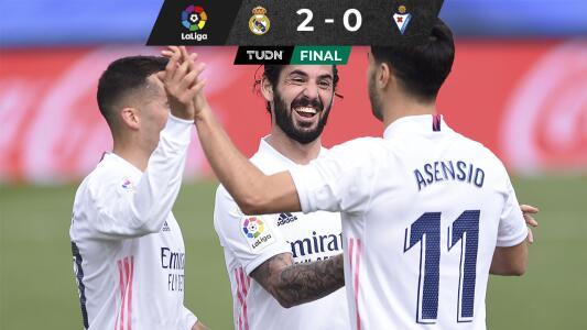 El Real Madrid triunfa ante el Eibar y acecha al 'Atléti'