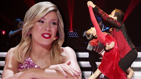 """Yamil y Sara hacen que a Laurita Fernández se le ponga la """"piel de posho"""" con este tango"""