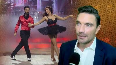 """Sorprendimos a Julián Gil en Mira Quien Baila a donde llegó a """"apapachar"""" a un competidor"""