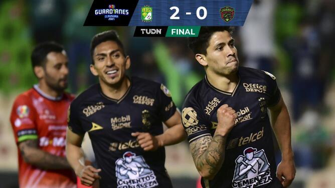 Resumen | León doblega 2-0 a FC Juárez con goles de Dávila y Meneses