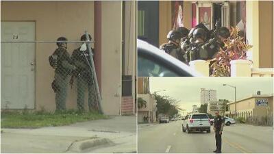 Policía atiende presunta situación de rehenes al noroeste de Miami