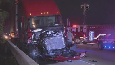Seis vehículos sufren un accidente en la Interestatal 45 y una persona debió ser extraída de un auto