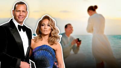 De rodillas y con el mar de testigo: así A-Rod le pidió matrimonio a Jennifer López