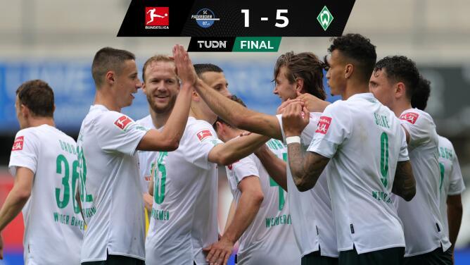 Werder Bremen sueña con la salvación tras vencer a domicilio 1-5 a Paderborn