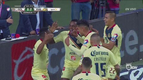 Andrés Ibargüen marca el 2-0 de América sobre Chivas