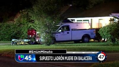 En Un Minuto Houston: Un presunto ladrón murió tras ser baleado por el propietario del vehículo que trató de robar
