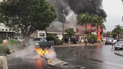"""""""Era un bola de fuego que caía del cielo"""": sube a cinco las muertes por desplome de avioneta en el sur de California"""