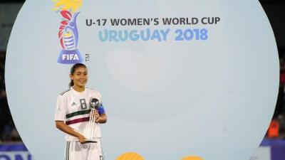 Nicole Pérez y México se quedan el balón de plata en el Mundial Femenil Sub-17