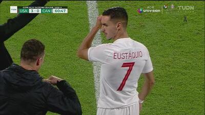 ¡Stephen Eustáquio primero debutó con Canadá sin que haya reaparecido con Cruz Azul!