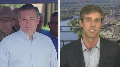 Encuesta da nueve puntos de ventaja a Ted Cruz sobre Beto O'Rourke en la lucha por la silla en el Senado