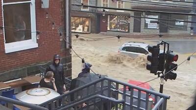 Fuertes inundaciones en el Estado de Maryland