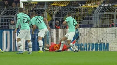 ¡Se salva el Inter! Mario Gotze se quedó a nada del empate para el Dortmund