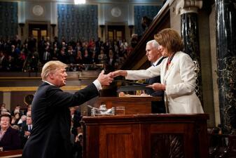 En fotos: la antesala del segundo discurso del Estado de la Unión de Donald Trump