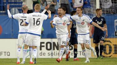 Montreal Impact gana con lo justo 2-1 a un alicaído Vancouver Whitecaps