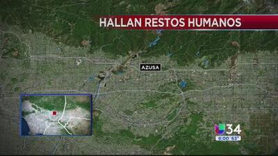 Hallan restos humanos en San Miguel Canyon Road
