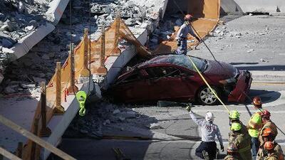 Realizaban prueba de esfuerzo en el puente que se cayó en Miami: ¿contribuyó eso a su colapso?
