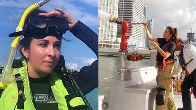 Maity Interiano se convirtió en rescatista marítima por un día en las costas de Miami