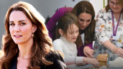 Muestra Kate Middleton su lado maternal al visitar a huérfanos en el nuevo centro que ayudó a construir