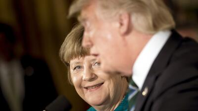 En fotos: El primer encuentro entre Ángela Merkel y Donald Trump
