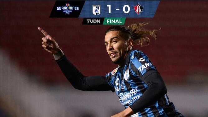 ¡Da Costa fulmina al Atlas! Querétaro se impone 1-0 con un golazo