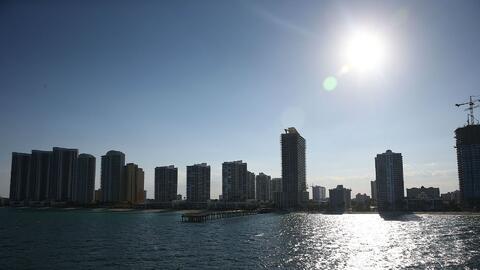 La semana inicia con tiempo seco y cielo mayormente despejado en Miami