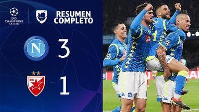 Napoli 3-1 Estrella Roja - GOLES Y RESUMEN - Grupo C- UEFA Champions League