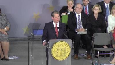 Brian Kemp juramenta como el nuevo gobernador de Georgia