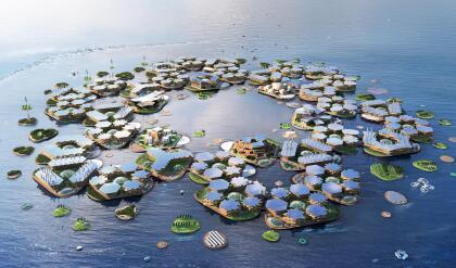 """Ubicada en aguas tranquilas y resguardadas, cerca de las megaciudades costeras, Oceanix City será una solución adaptable, sostenible y asequible para la vida humana en el océano. Dos de cada cinco personas en el mundo viven a menos de 60 millas de la costa y una de cada 10 en zonas costeras a menos de 32 pies (10 metros) sobre el nivel del mar, según  <a href=""""https://unhabitat.org/"""" target=""""_blank"""">ONU-Hábitat</a>, el programa de Naciones Unidas dedicada a los asentamientos humanos."""